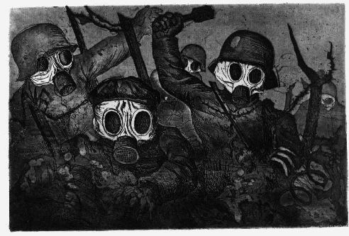 Stormtroopers during a Gas Attack,1924