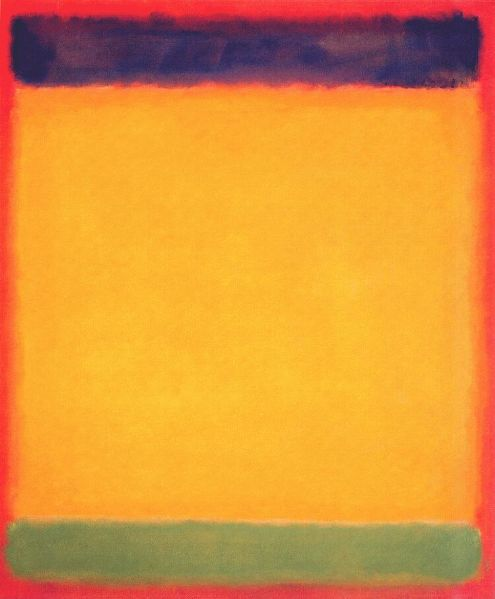 Mark Rothko : Blue, yellow, green on red,1954