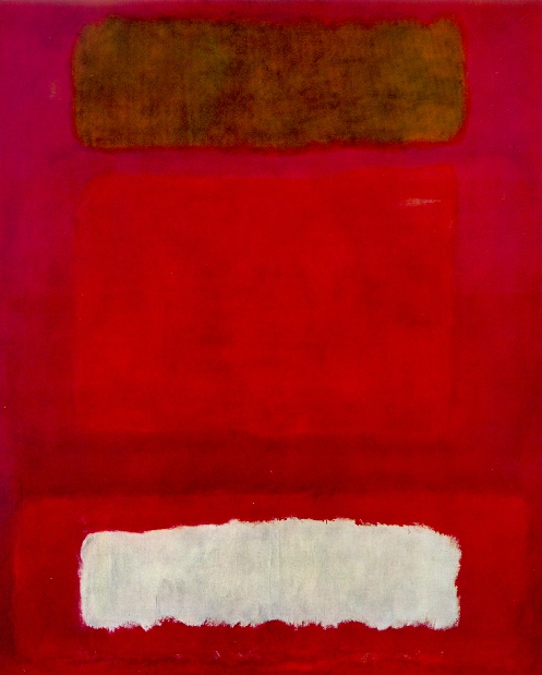 Mark Rothko : Red, white on brown,1957